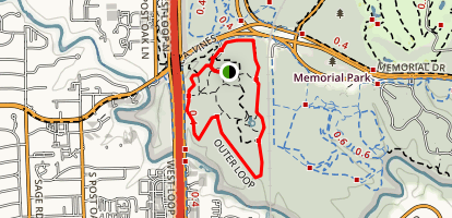 Houston Arboretum and Nature Center Outer Loop Trail Map