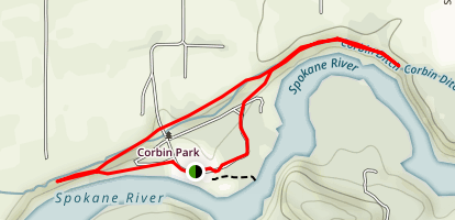 Spokane River Trails Map