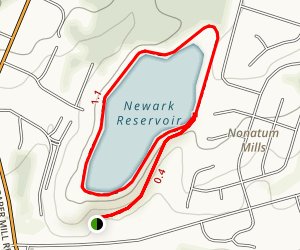 Newark Reservoir Trail Map