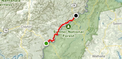 Chattooga River Trail Map
