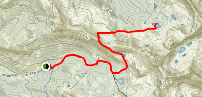 Fourth of July Creek to Born Lakes Map