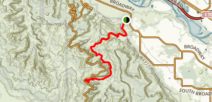 Monument Canyon Trail Map