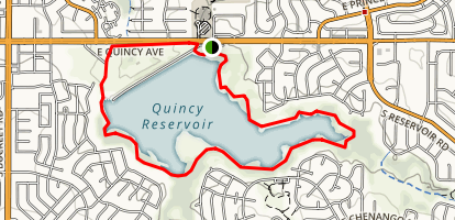Quincy Reservoir Map