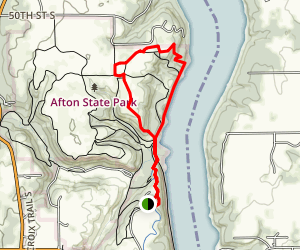Afton State Park Area Trails Map