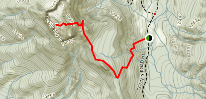 West Fork to Courthouse Mountain Map