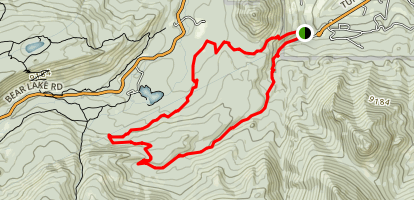 East Portal Trailhead: Wind River and Glacier Basin Loop Map