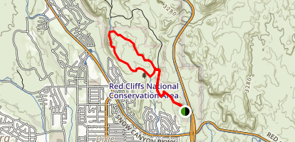 Turtle Wall Trail Map