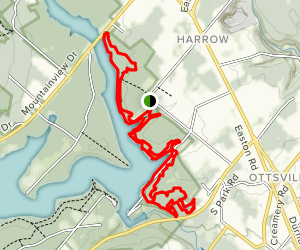 Nockamixon State Park Loop Trail Map