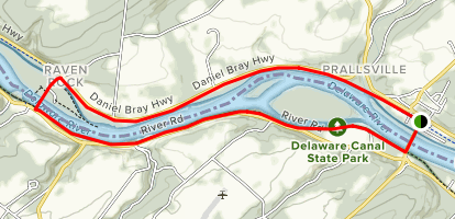 Delaware and Raritan Feeder Canal (North & South) Trails Map