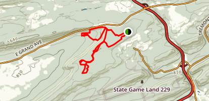 Broad Mountain Trails - Rausch Creek Map