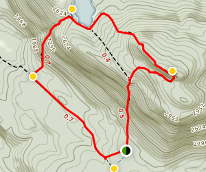 Crane Mountain Loop Hike Map