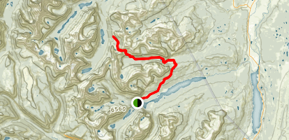 Redgap Pass Trail Map