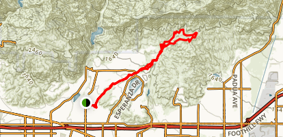 Marshall Canyon Trail Map