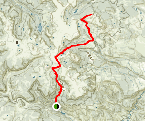Flat Top Mountain and Edge Lake Trail Map