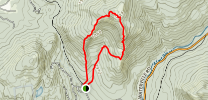 Welch and Dickey Loop Trail Map