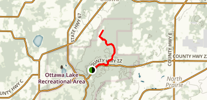 Pine Woods Campground - Ice Age Trail Map