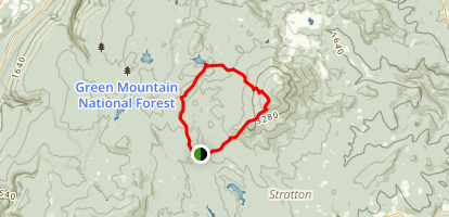 Stratton Pond and Stratton Mountain to Catamount Trail via long Trail (Appalachian Trail) Map