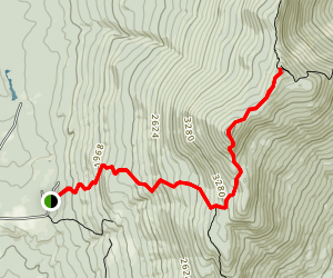 Battell Trail to Lincoln Peak Map