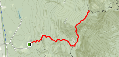 Lincoln Peak via Battell and Long Trail Map