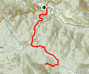 Crosier Mountain via Gravel Pit Trailhead Map