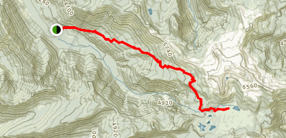 South Breitenbush Trail Map