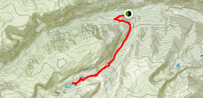 Timberline and Gertrude Lakes Map