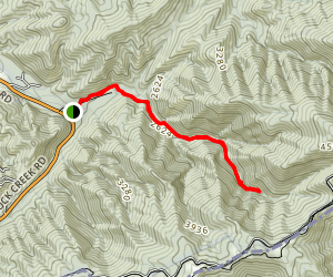 Rock Creek Falls Trail Map