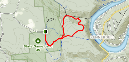 Allegheny Gorge and Overlook Trail Map