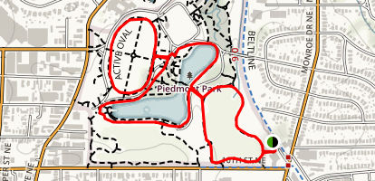 Piedmont Park Loop Map