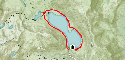 Saddlebag Lake Trail Map