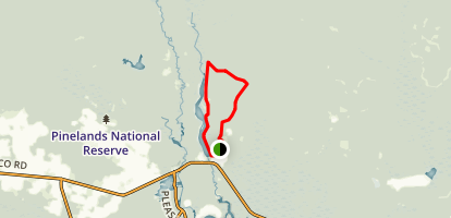 Batsto Lake Trail Map