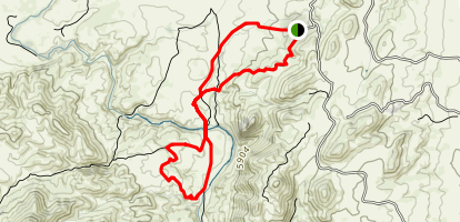 Triple Bar and OT Trail Loop Map