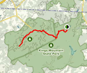 Browns Mountain Trail Map