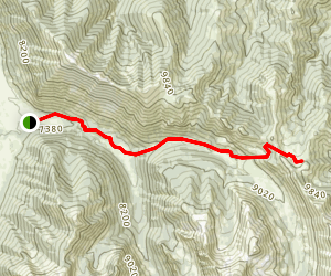 Left Fork of Fall Creek Map