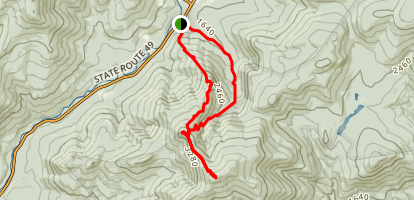 Jennings Peak and Sandwich Mountain Trail Loop Map