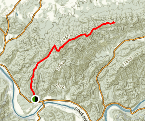 Meadow Creek Mountain Trail Map