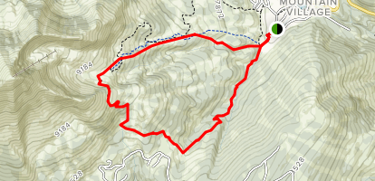 Big Sky Ski Resort Hiking Loop Map
