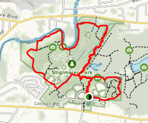 Stiglmeier Park Trails Map
