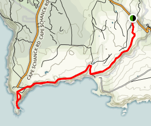 Cape Schanck via Two Bays Walking Track Map