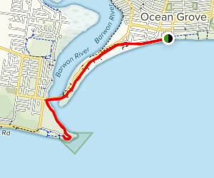 Ocean Grove to Barwon Heads Map