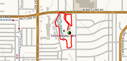Cottonwood Park Loop Trail Map