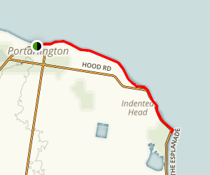 Portarlington to Indented Head via The Esplanade Map