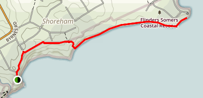 Shoreham to Point Leo Map