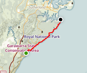 Royal National Park Coastal Trail: Otford to Shelly Beach Map