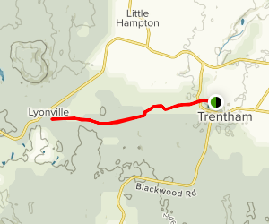 Domino Trail from Trentham to Lyonville Map