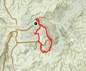Grand Canyon Hike to Govetts Leap and Evans Lookout Map