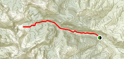 Buck and Bear Valley Lakes Map