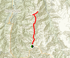 Mount Feathertop via The Razorback Map