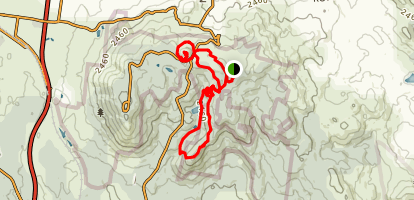 Mount Towrong and Camel's Hump Loop Trail Map