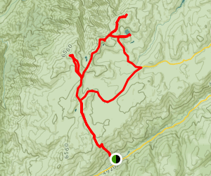 Kosciuszko Main Range Loop Map